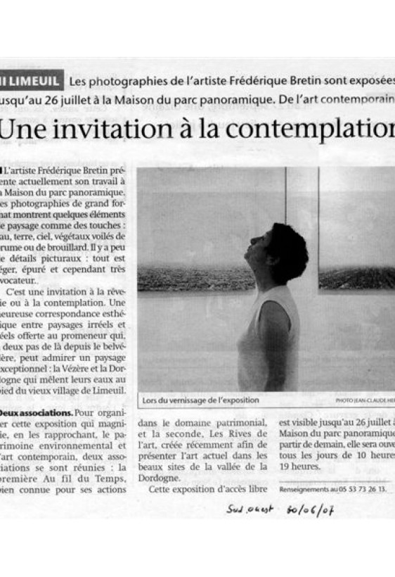 2007 article SUD OUEST  expo BRETIN