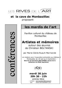 2009 Affiche Conference Artistes et memoires