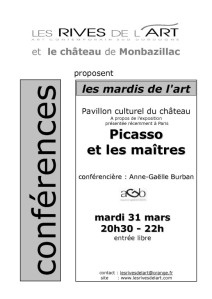 2009 Affiche  Conference Picasso