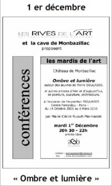 2009 Conférence Ombres et lumière