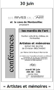 2009 Conférence Artistes et mémoires