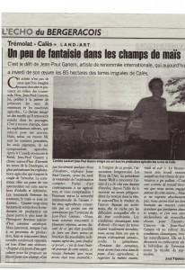 article du 7 août dans Echo de la Dordogne