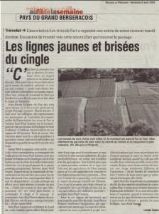 article du 8 août 2008 dans Réussir le Périgord
