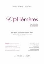 dossier de presse EPHEMERES 2010
