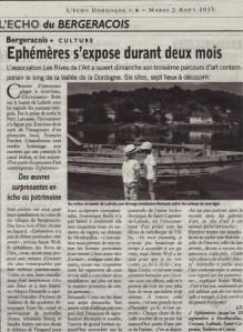 2 Echo de la Dordogne du 2 août 2011