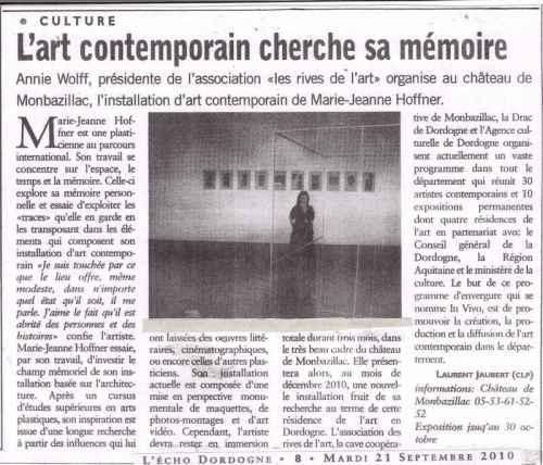 2010 21 Sept Art Echo Dordogne