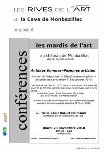 2010 Affiche Conference Femmes artistes