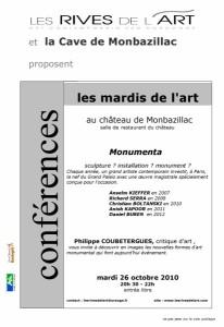 2010 Affiche Conference Monumenta