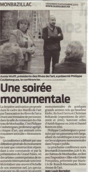 2010 Conf Monumenta SO 5 nov
