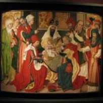 """Maître à l'oeillet de Baden, """"la Circoncision"""", 15è/16è S."""