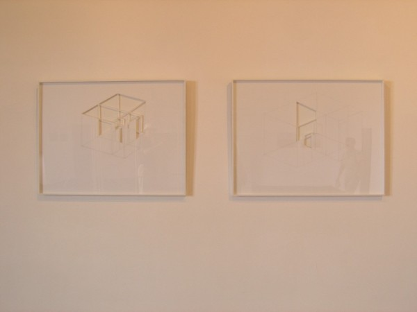 """Hoffner, """"Appartements (I et II)"""", 2003, dessin sur carton plume découpé, 50 x 65 cm"""