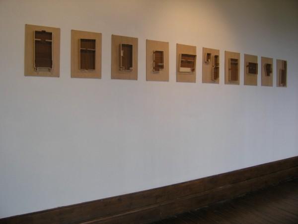"""Hoffner, """"Inventaire"""", 2004, série de 10 maquettes"""