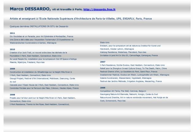 bibliographie DESSARDO EPH 2011