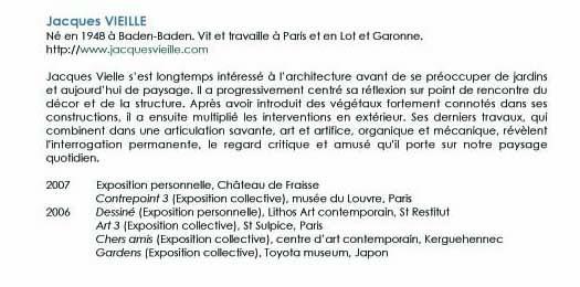 bibliographie Jacques VIEILLE