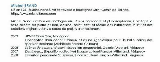 bibliographie Michel BRAND