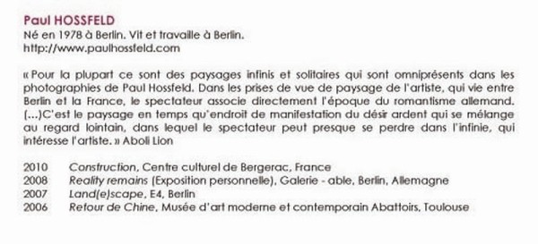 biographie Paul HOSSFELD