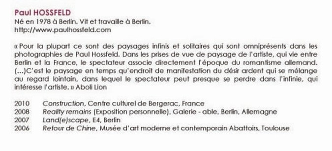 bibliographie Paul HOSSFELD