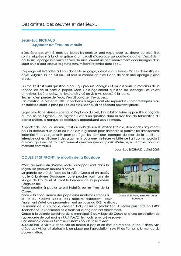 Dossier de presse COUZE et St FRONT