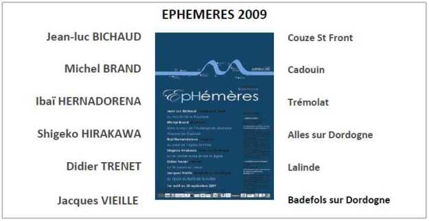 EPHEMERES 2009