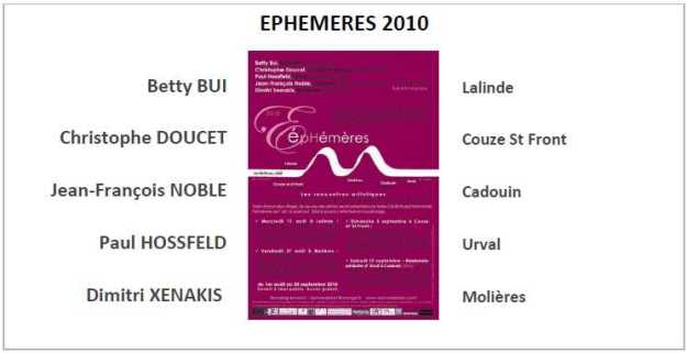 EPHEMERES 2010