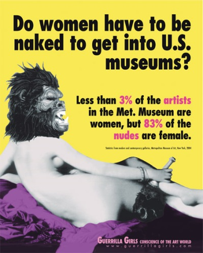 Guerilla Girls, Do women have to be naked to get into U.S. museums ?, 1989