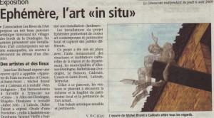 journal le Démocrate du 6 août 2009