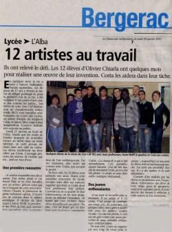 Le Démocrate 20 janvier 2011