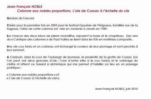 l'oie de CUSSAC JF NOBLE