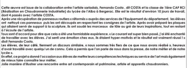 oeuvre COSTA EPH2011