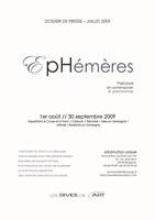 P1 Dossier de presse Ephémères2009