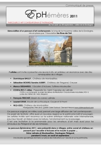 page 1 communiqué de presse EPHEMERES 2011
