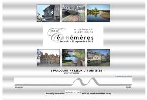 page1 dossier de presse EPHEMERES 2011