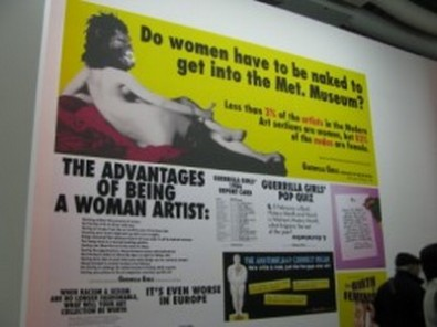 "Guerilla Girls, ""Do women have to be naked to get into the Met. Museum?"", 1989"
