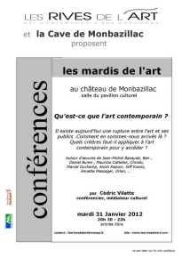 2012 Affiche Conf Art contemporain