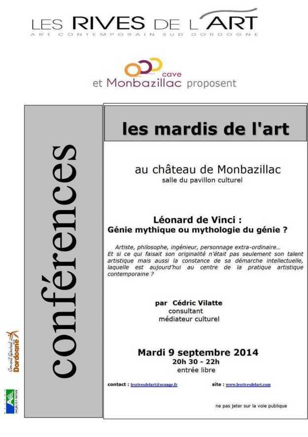 2014 Affiche ConFerence Leonard de Vinci