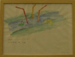 """Ateliers d'Ephémères 2012 : Betty BUI, aquarelle préparatoire à """"(dé)rives de l'art"""" lors d'Ephémères 2010 ; © Betty Bui"""