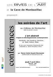 conférence sur  l'art abstrait