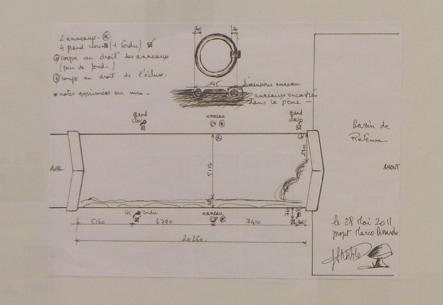 """Ateliers d'Ephémères 2012 : Marco Dessardo, croquis préparatoire pour """"dix goulottes et un parasite"""", Ephémères 2011"""