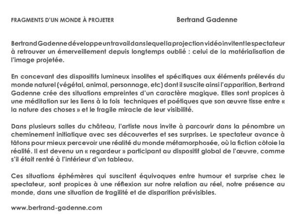 2013 fragments d'un monde à projeter Bertrand GADENNE
