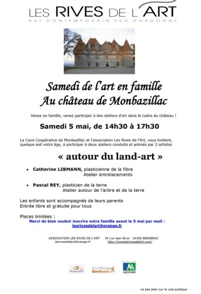 flayer autour du  land art