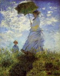 Claude Monet, la promenade , la femme à l'ombrelle 1875
