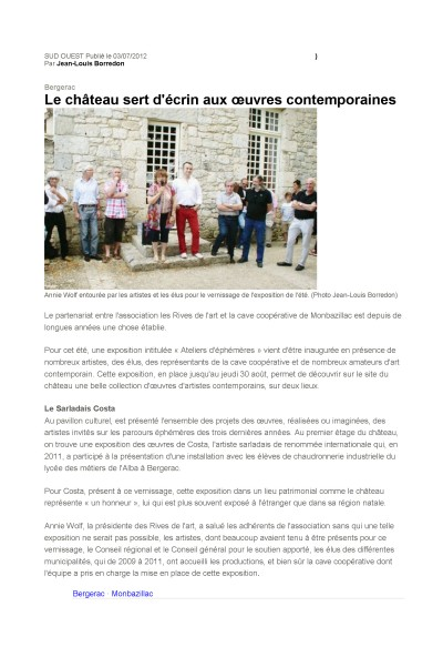 sud ouest 3 07 2012