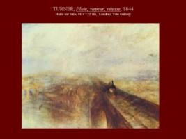 """William TURNER : """"pluie, vapeur, vitesse"""""""