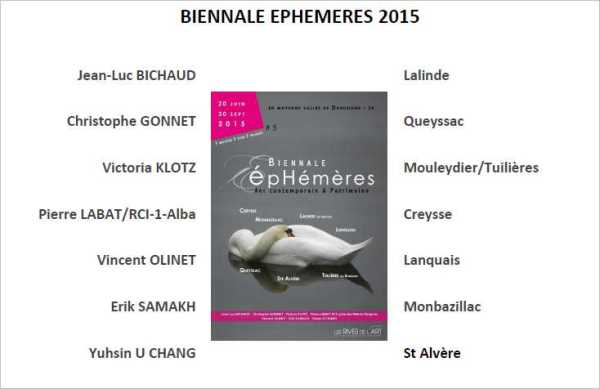 2015 Biennale EPHEMERES