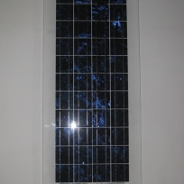 """Panneau solaire ancien , entrée de l'artelier d'artiste ; """"Studiolo"""", Erik SAMAKH, 2015 ; expo de fin de """"Résidence de l'Art en Dordogne""""-Biennale EpHémères #5 ; château de Monbazillac ; photo ©Les Rives de l'Art"""