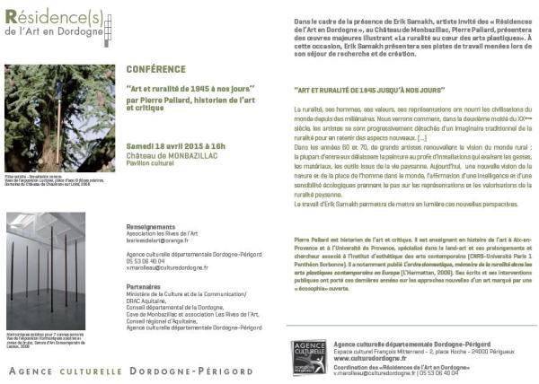 2015 Conférence 18 avril - Pierre Paliard - Erik Samakh