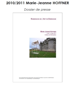 2010-2011 DP Résidence Marie-Jeanne HOFFNER