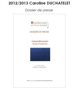 2012-2013 DP Résidence Caroline DUCHATELET