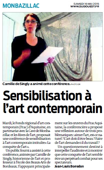 2015 12 mai Article Sud Ouest Conference Frac
