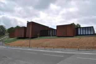 Le musée Soulages à Rodez, vue de l'élévation nord ; photo © Julie Lourgant